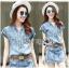Lady Cindy Little Western Cowboy Denim Shirt and Shorts Set with Belt L262-8507 thumbnail 2