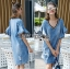 Lady Ashley Smart Casual Ruffle-Sleeve Denim Dress L267-7519 thumbnail 2