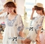 DR-LR-063 Lady Eliza Pretty Embroidered Brocade Kaftan Mini Dress thumbnail 1