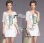Lady Briony Playful Layered Sequin Dress Set สีขาว thumbnail 4