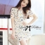 DR-LR-212 Lady Vivid Floral Lace Mini dress, Partysu Korea thumbnail 7