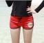 SM-V1-579 ชุดว่ายน้ำแขนยาว เสื้อสีดำ กางเกงขาสั้นสีแดงสวย ๆ thumbnail 3