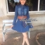 DR-LR-025 Lady Ribbon's Made Lady Mara Chic Denim Dress thumbnail 2