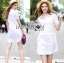 Lady Katie Casual Feminine Lace and Cotton Shirt Dress L201-69C03 thumbnail 5