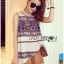 Lady Helena Hippie Chic Printed Tank Top and Embroidered Cotton Shorts Set L266-7906 thumbnail 6