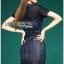 Lady Jeanne Rock Chic Studded Dark Denim Mini Dress L218-85E01 thumbnail 2