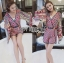 Issue Cassandra Colourful Printed Kimono Playsuit L261-6913 thumbnail 6