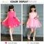 GD021 ชุดเดรสสีชมพูเข้ม ประดับดอกไม้ (เด็กโต) ชุดออกงานเด็กหญิง thumbnail 3