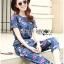 Lady Taylor Street Chic Fashionable Printed Soft Denim Set L262-7502 thumbnail 2