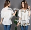 Lady Emily Country Flower Embroidered Kaftan Blouse L148-49A01 thumbnail 1