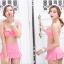 SM-V1-405 ชุดว่ายน้ำเซ็ต 3 ชิ้น สีชมพู (บรา+กางเกง+เสื้อคลุมผ้าลูกไม้) thumbnail 7