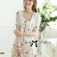 DR-LR-195 Lady Anna Sweet Mini Berries Print Chiffon Dress thumbnail 7