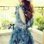 DR-LR-263 Lady Amanda Summer Floral Cut-Out Chiffon Dress thumbnail 8