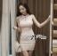 DR-LR-133 Lady Clare Classic Elegant Pearl Lace Dress thumbnail 2