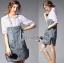Lady Coco Cotton White Shirt with Denim Skirt Dress L202-69B10 thumbnail 11