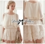 DS-PP-019 Lady Beatrice Pretty Sweet Layered Chiffon Lace Jumpsuit thumbnail 6