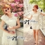 DR-LR-086 Lady Paula Sweet Chic Flowery White Dress thumbnail 4
