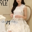 DR-LR-127 Lady Rachel Sweet Angel Flowery Dress in White thumbnail 9