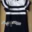 DR-LR-155 Lady Natasha Striped Dress in Navy Style thumbnail 12
