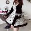 DR-LR-087 Lady Avril Minimal Chic Swirl Print Dress thumbnail 6