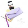 กระเป๋าสตางค์ใส่โทรศัพท์ ใบยาว PrimPrai Smart Wallet สีม่วง