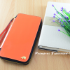 กระเป๋าสตางค์ใส่โทรศัพท์ ใบยาว ซิปรอบ Primprai ziparound wallet สีส้ม