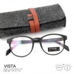 VISTA - black กรอบแว่นลายไม้ แว่นยืดหยุ่น กว้าง 135 มม.(size M)