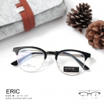 ERIC - black silver แว่นตา TR90 กรอบทรงเหลี่ยม ขาโลหะ กว้าง 137 มม.(size M) ระบบน็อตยึดเลนส์
