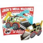 Jack's Mega Machine : The Dinosaur Digger หนังสือนิทานพร้อมโมเดลกระดาษ เครื่องยนต์ยักษ์ของแจ๊ค