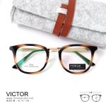 VICTOR - gold tortoise แว่นตา TR90 กรอบเเหนียว ทนทาน ขาโลหะ กว้าง 138 มม.(size M)