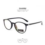 SHARM - black กรอบแว่นทรงหยดน้ำ กว้าง 132 มม.(size S)