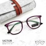 VICTOR - violet แว่นตา TR90 กรอบเเหนียว ทนทาน ขาโลหะ กว้าง 138 มม.(size M)