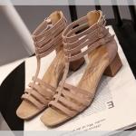 รองเท้าไซส์ใหญ่ 40-44 EU แบบเส้น ส้นตึก สีน้ำตาล แบรนด์ CHOWY รุ่น CH0137