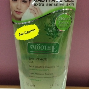 Smooth E Babyface Gel สูตร Extra Sensitive Cleansing 5.5 Oz