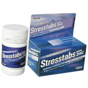 Stresstabs 600+Zinc สเตร็สแทปส์ 600+แร่สังกะสี (สีน้ำเงิน) 30เม็ด