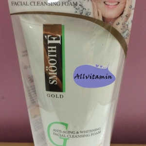 Smooth E Gold Anti-Aging & Whitening Facial Cleansing Foam 4 Oz