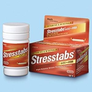 Stresstabs 600 + Iron สเตร็สแทปส์ 600+แร่เหล็ก (สีแดง)30เม็ด