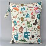 ถุงผ้ากันน้ำ 1 ช่อง Size: L (หูจับกระดุม) i2 -Animals