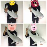 ตุ๊กตาปลาฉลามนุ่มนิ่ม Shark Doll 55 CM