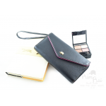 กระเป๋าสตางค์ใส่โทรศัพท์ ใบยาว PrimPrai Smart Wallet สีดำ