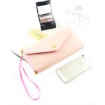 กระเป๋าสตางค์ใส่โทรศัพท์ ใบยาว PrimPrai Smart Wallet สีชมพู