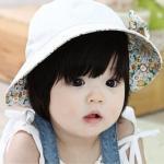 หมวกเด็กหญิง สีขาว