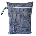 ถุงผ้ากันน้ำ 1 ช่อง Size: L (หูจับกระดุม) i2 -Jeans