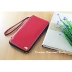 กระเป๋าสตางค์ใส่โทรศัพท์ ใบยาว ซิปรอบ Primprai ziparound wallet สีแดง