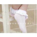 ถุงเท้าระบายลูกไม้ สีขาว Size 2-4