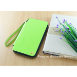 กระเป๋าสตางค์ใส่โทรศัพท์ ใบยาว ซิปรอบ Primprai ziparound wallet สีเขียว