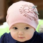 หมวกเด็ก สีชมพู