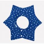 ผ้ากันเปื้อนเด็ก สีน้ำเงินลายดาวหกแฉกดาวขาว