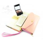 กระเป๋าสตางค์ใส่โทรศัพท์ ใบยาว PrimPrai Smart Wallet สีครีม