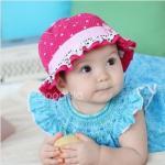 หมวกเด็กหญิง - สีชมพูบานเย็น